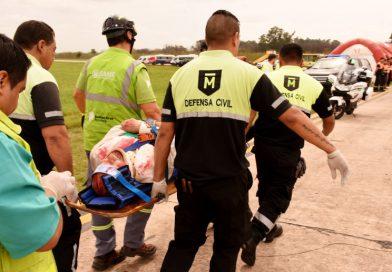 SIMULACRO DE EMERGENCIA EN EL AEROPUERTO DE EL PALOMAR