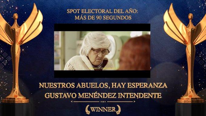UN SPOT DE CAMPAÑA DE GUSTAVO MENÉNDEZ RECIBIÓ UN PREMIO INTERNACIONAL